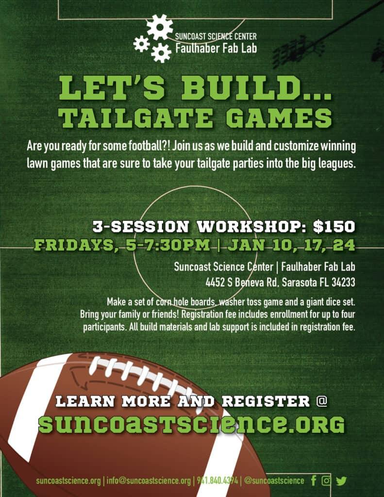 Lets Build Tailgate Games flyer